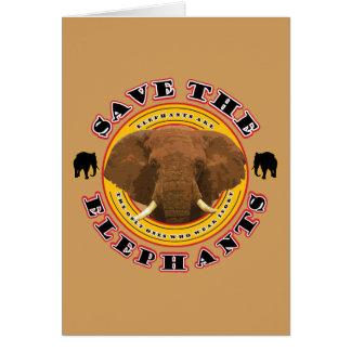 Gerettete-D-Elefanten Karte