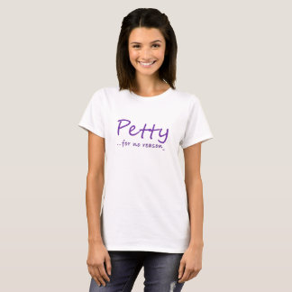 Geringfügiger lila T - Shirt