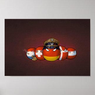 Germanisches Countryballs Poster