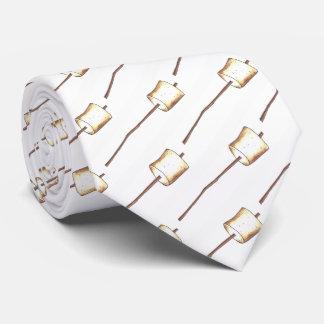 Geröstetes Eibisch-Stock-Lagerfeuer-Lager S'mores Individuelle Krawatten