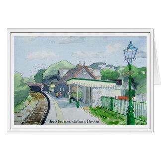 Gerste Ferrers Station, Devon Karte