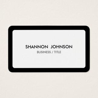 Gerundete weiße und schwarze Grenze minimal Visitenkarte