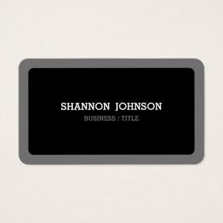 Gerundetes schwarzes und graues minimales modernes visitenkarte