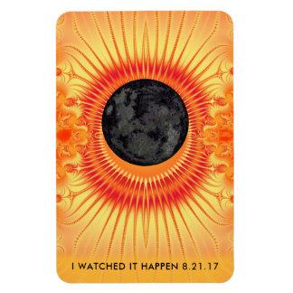 Gesamtsolareklipse-Fraktal-Kunst 4 x 6 Magnet