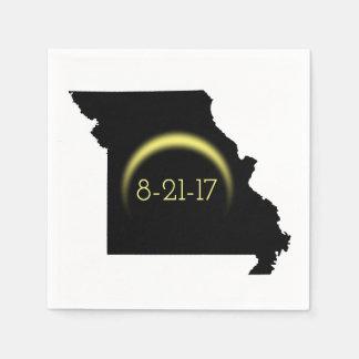 Gesamtsolareklipse-Missouri-Silhouette 2017 Papierserviette