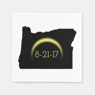 Gesamtsolareklipse-Oregon-Silhouette 2017 Papierserviette