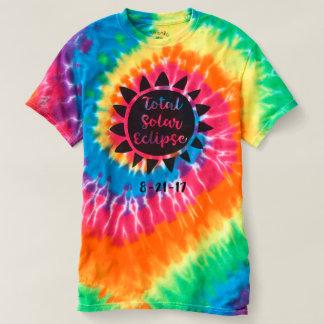 Gesamtspirale-Krawatten-Shirt der T-shirt
