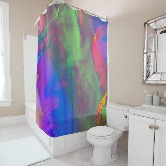 Gesang in der Dusche abstrakt Duschvorhang