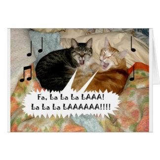 Gesang-Katzen Karte