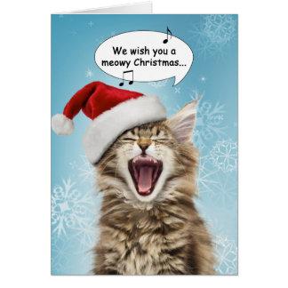 Gesang-Katzen-Weihnachtskarte Karte