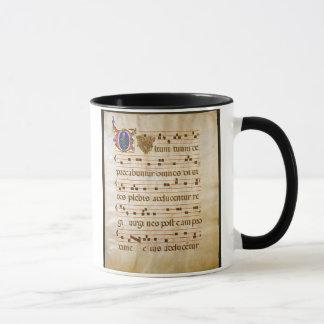 Gesang manuscript.jpg, gregorianischer Gesang: Das Tasse