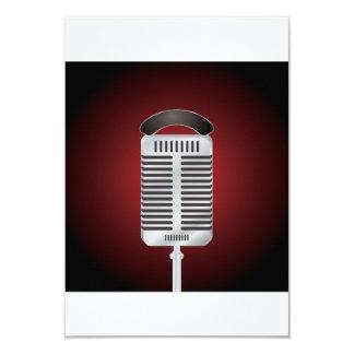 Gesang-Mikrofon-Einladungen Karte
