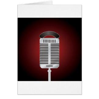 Gesang-Mikrofon-Gruß-Karten Karte