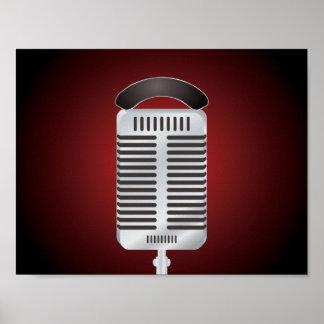 Gesang-Mikrofon-Plakat Poster