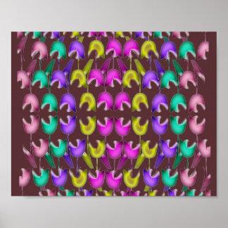 Gesang-Tanzen-Blumen in den BILDUNGEN Poster