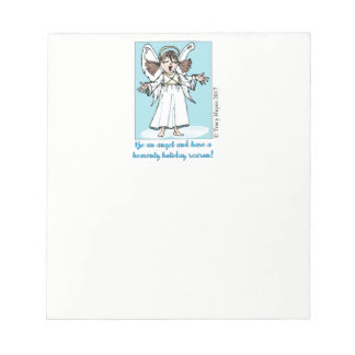 Gesang-Weihnachtsengelsnotizblock Notizblock