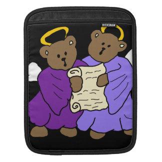 Gesangteddy-Bärn-Engel in den lila Roben iPad Sleeve