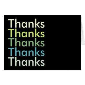 Geschäft danken Ihnen Karten