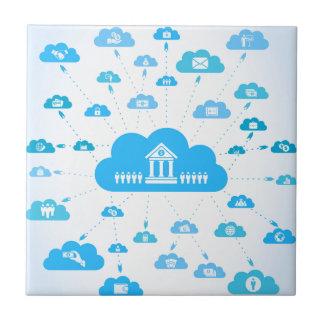 Geschäft ein cloud3 fliese