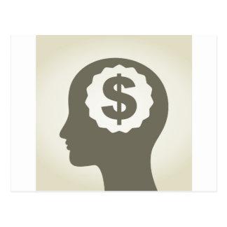 Geschäft ein Kopf Postkarte