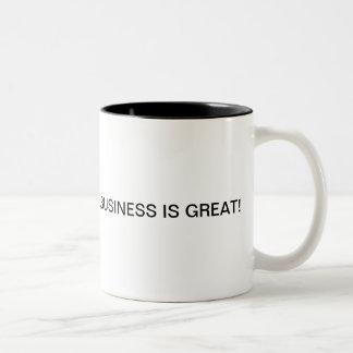 Geschäft ist immer gut, wenn Sie eine Erinnerung Zweifarbige Tasse