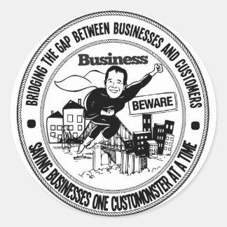 Geschäft passen Siegel auf Runder Aufkleber