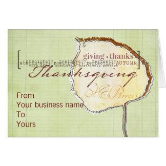 Geschäft Thanksgivng Karten