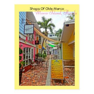 Geschäfte von Olde Marco - Marco Insel Florida Postkarte