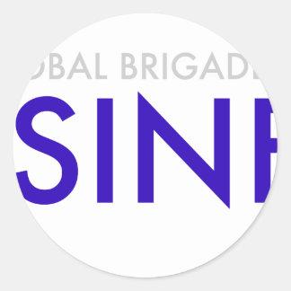 Geschäfts-Brigaden Runder Aufkleber