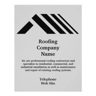 Geschäfts-Flyer Roofing Company 21,6 X 27,9 Cm Flyer