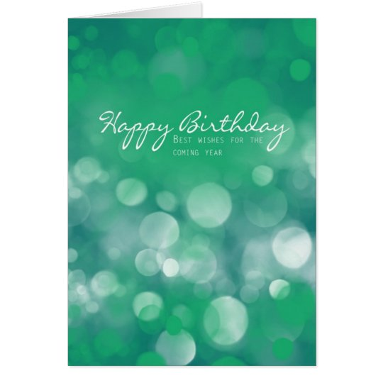 Geschäfts-Geburtstags-Karte, beste Wünsche Grußkarte