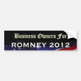 Geschäfts-Inhaber für Romney Autoaufkleber 2012