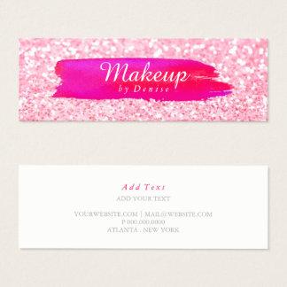 Geschäfts-Karte - Make-upbrushstroke-Glitter Mini Visitenkarte