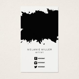 Geschäfts-Karte - malen Sie Spritzer-Schwarzes Visitenkarte