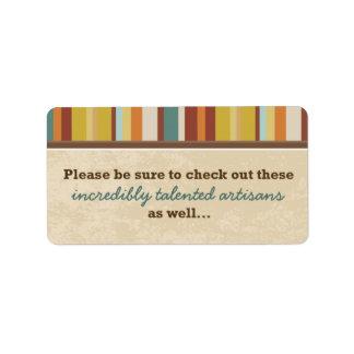Geschäfts-Karten-Beutel-Siegel (für Ereignisse) Adressetikett