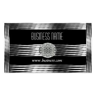 Geschäfts-Karten-Kunst-Deko-Schwarz-Silber-Chrom Visitenkarten Vorlagen