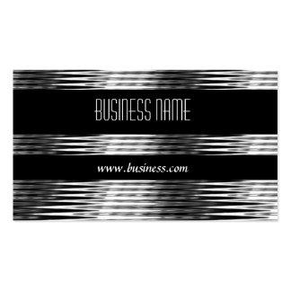 Geschäfts-Karten-Kunst-Deko-Schwarz-Silber-Chrom Visitenkartenvorlage