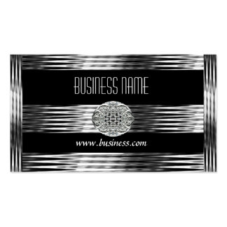 Geschäfts-Karten-Kunst-Deko-Schwarz-Silber-Chrom Visitenkarten