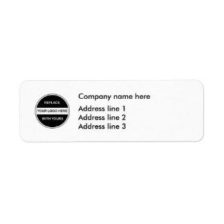 Geschäfts-Logo-Adressen-Schablonen-Aufkleber Rücksendeetiketten