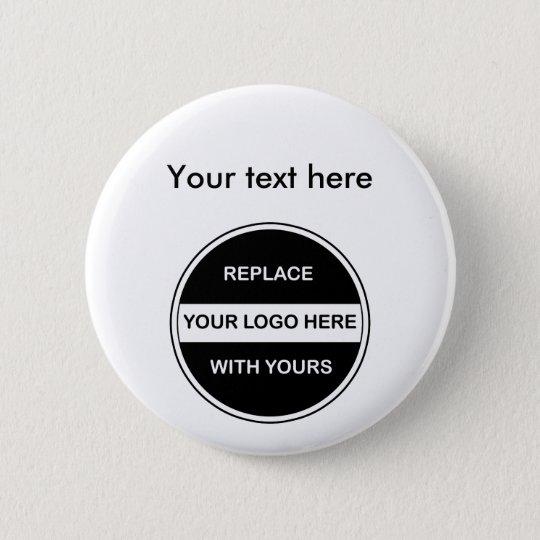 Geschäfts-Logo-Knopf-Buttone Runder Button 5,1 Cm