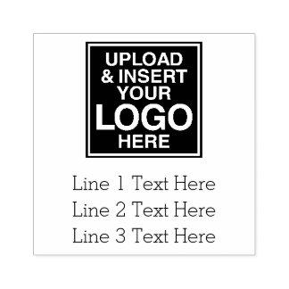 Geschäfts-Logo mit 3 Linien Text Gummistempel