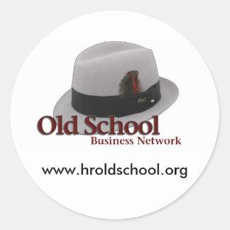 Geschäfts-Netz-Aufkleber Runder Aufkleber