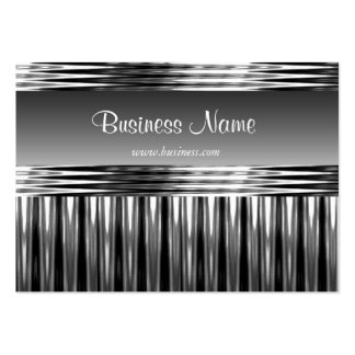 Geschäfts-Visitenkarte-Schwarz-Metallsilber-Chrom