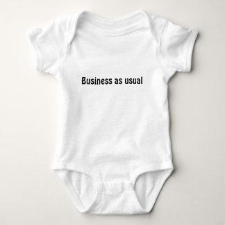 """""""Geschäfts-wie üblich """" Babyt-stück Baby Strampler"""