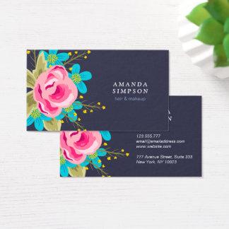 Geschäftskarte mit Blumen Visitenkarten