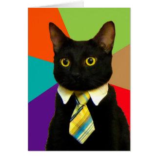 Geschäftskatze - schwarze Katze Mitteilungskarte