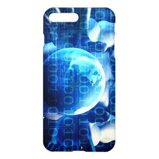 Geschäftsmann-Führungskraft, die Kugel hält iPhone 8 Plus/7 Plus Hülle