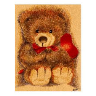 Geschätzte Teddybär-Postkarte Postkarte