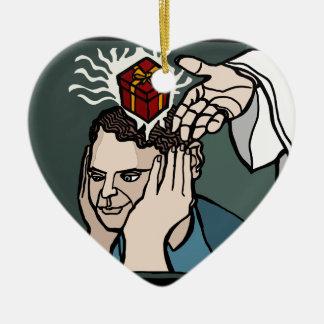 Geschenk der Inspiration und des Fortschritts Keramik Herz-Ornament
