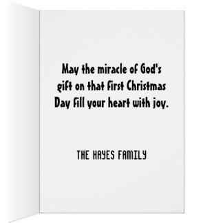 Geschenk des Gottes Weihnachts Karte